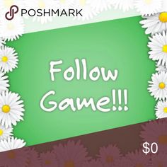 Follow Game! Let's help each other increase sales and followers.  LIKE and SHARE this post and FOLLOW everyone who likes the listing. Tag your posh friends too.  Remember to come back and follow more people. ?????? Other