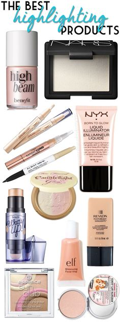 A list of highlighters that go with every skintone! #beauty #makeup #makeuptips