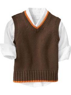 Old Navy Tipped V-Neck Sweater Vests - H