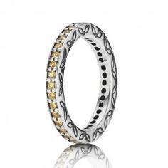 Disponibilité : En stock 49,99 € http://www.france-pandora.com/bague/jaune-anneau-incruste-de-pierres-precieuses-zircone-pandora.html