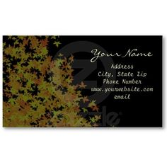 Fallen Leaves Business Card