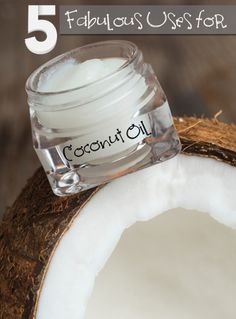 5 Fabulous Uses for Coconut Oil. Natural, DIY, natural remedies, natural remedies, health and beauty, DIY makeup.