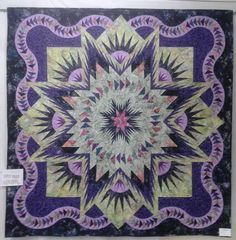 Glacier Star designed by Quiltworx.com, made by Angela Bradbury.  This beautiful quilt won 1st place at the Myrtleford Show.