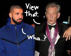Sir Ian McKellen Performing Drake Lyrics As Shakespearean Verse Is AMAZING! Get Thee To The Video! by Perez Hilton  #Acting, #BbcRadio1, #Drake, #Entertainment, #IanMcKellen, #MusicMinute, #Shakespeare