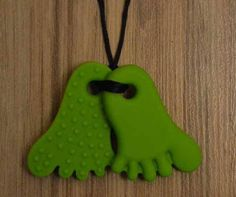Items similar to Unisex Green Double Sided BPA Free Foot Teething Pendant! Mother's Day Special normally 16 dollars now on Etsy Teething Necklace, Necklaces, Unisex, Christmas Ornaments, Cool Stuff, Holiday Decor, Unique Jewelry, Handmade Gifts, Green