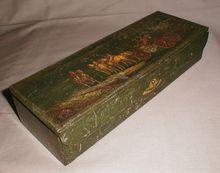 Vintage Huntley & Palmers Biscuit Tin, Glove Box, ca. 1913