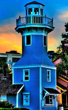 SEAPORT VILLAGE LIGHTHOUSE in San Diego, California, USA
