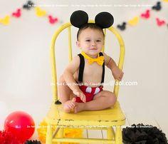 Mickey Mouse cumpleaños pastel traje smash gratis orejas que