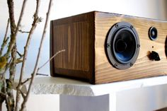 Bluetooth Wood Speaker System Handmade From by SalvageAudio