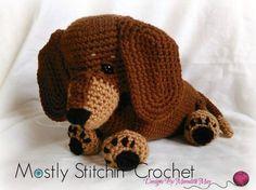Gift for Crocheter - DIY Kits - Crochet Kit - Amigurumi Kit - DIY Craft Project - Crochet Dog Pattern - Crochet Gift - Hooked by Angel by HookedbyAngel Cute Crochet, Crochet Dolls, Dog Crochet, Giraffe Crochet, Half Double Crochet, Single Crochet, Amigurumi Patterns, Crochet Patterns, Cat Amigurumi