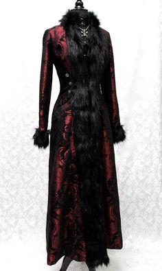 BLACK FOREST COAT - RED/BLACK TAPESTRY