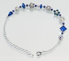 Something Blue Wedding Anklet. I Love this its so pretty and elegant. I want it for my wedding ceremony