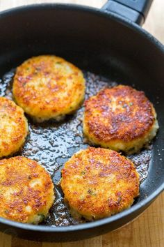 Cheesy mashed potato pancakes recipe - best way to use up leftover mashed potatoes! Mashed Potato Pancakes are crispy outside and loaded with melty cheese! | natashaskitchen.com