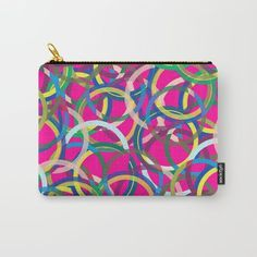 Organize your life with our Carry-All Pouches. Spinning around I is a beautiful colorful pattern by Sagacious Design with vivid colors ad geometric shapes, awesome modern design.