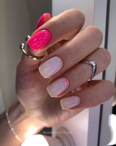 Pin on Nails Acrylic Nail Tips, Pink Acrylic Nails, Pink Acrylics, Dream Nails, Love Nails, Stylish Nails, Trendy Nails, Nail Manicure, Gel Nails