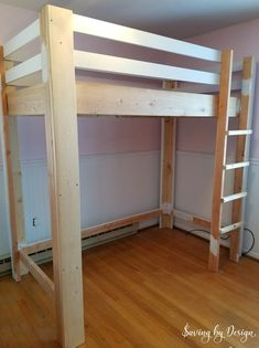 What makes bedtime homework and a tidy room more fun for a child than a fabulous DIY loft bed with desk and storage? You'll love the price function and space-saving this twin loft bed offers whether it's for your son daughter tween teen or even an adult! Build A Loft Bed, Loft Bed Plans, Loft Bunk Beds, Kids Bunk Beds, Bunk Rooms, Adult Bunk Beds, Loft Beds For Teens, Adult Loft Bed, Bed For Girls Room