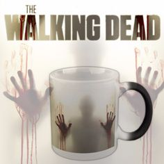 From Black to Scary. If you are a fan of the Walking Dead then brighten up your morning with this Heat Sensitive Morphing Mug. It will appear black when cold but will take on a whole new scary look as