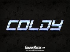 GraphicRiders | Action style – Coldy (free photoshop style - text effect)
