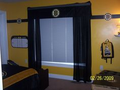 Bruins room ideas...I knew this day would come.