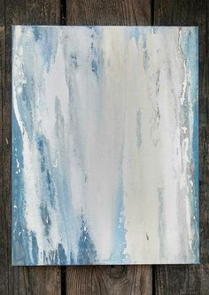 Abstract Minimalist Ocean Painting 11 x 14 Coastal Canvas Wall