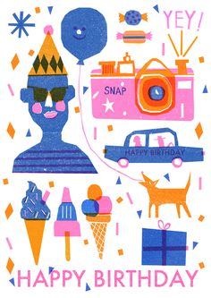 Happy Birthday! - Louise Lockhart | Illustration | Design | The Printed Peanut