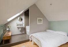 Slaapkamer met badkamer! Mooie oplossing zo!