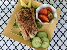 Pan Seared Gulf Red Fish with a Lemon Butter Reduction We were so lucky to be the recipients of some fresh red fish fillets from our friends Bill and Stacey. They were caught and filleted o… Redfish Recipes, Lemon Butter, Red Fish, Looks Yummy, Seafood Recipes, Asparagus, Food Ideas, Roast, Good Food