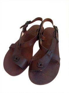 PERENNA Asymmetric Ankle Strap Toe Loop Handmade por BODRUMSANDALS, $120.00