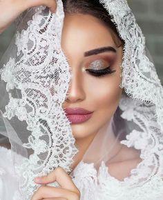 Hijab Makeup, Hair Makeup, Makeup Eye Looks, Beauty Makeup, Bridal Make Up, Bridal Looks, Girly Pictures, Girly Pics, White Wedding Dresses