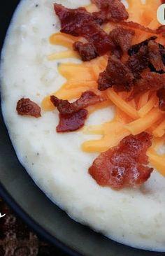 Crockpot Loaded Baked Potato Soup - seriously, my favorite soup ever!!
