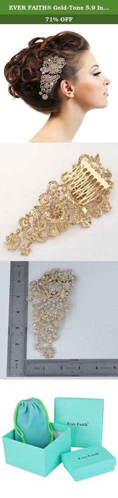 EVER FAITH® Gold-Tone 5.9 Inch Flower Cluster Hair Comb Iridescent Clear AB Austrian Crystal. A fabulous piece is to wear in any occasion and an eye catcher to draw all the attention from your friends Ever Faith As a company that concentrates on fashion jewelry, we already have about 10 years experience on fashion jewelry trend. We work magic on jewelry, keep on new designs and to a leader of beauty and style is our goal. We have over 5000 products and are good at sustaining innovations....