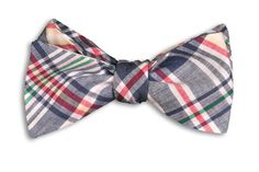 Seasonal Wedding Ideas: We are loving this #plaid bow tie for the #fall season! Buy from High Cotton Ties.