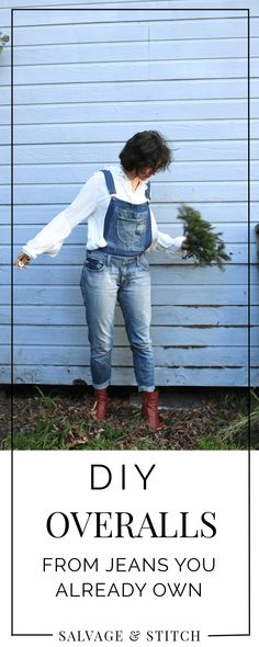 DIY Overalls From Jeans You Already Own