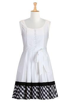 Fit And Flare Dresses, Cotton Poplin Dresses Womens fashion dress designs - Shirtdresses: All Womens Dresses at eShakti - | eShakti.com
