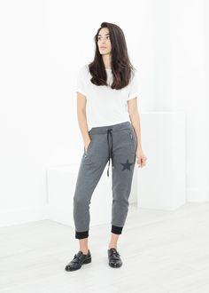 Loopwheeler Star Pant in Grey