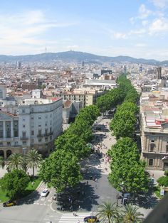 La Rambla (Spain). This is in Barcelona, Spain.  We have considered staying in Barcelona for a few months when we retire.  It is a must see.