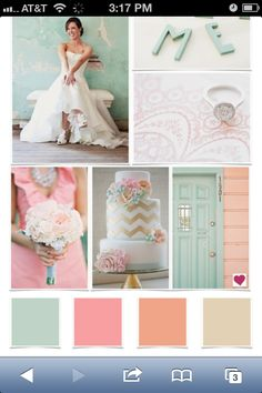 Pretty spring wedding colors.