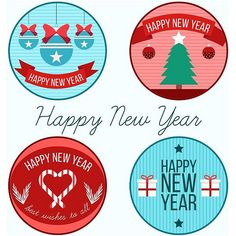 En güzel dekorasyon paylaşımları için Kadinika.com #kadinika #dekorasyon #decoration #woman #women free vector Happy New Year 2017 Badges Design Collection