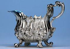 English Sterling Silver Cream Boat by Paul de Lamerie, London, 1742/43