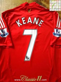 Official Adidas Liverpool home football shirt from the 2008/2009 season. Complete with Keane #7 on the back of the shirt in Premier League lettering.