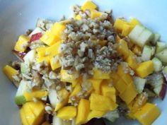 Coconut-mango chia salad