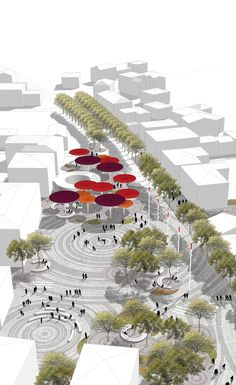mir_architettura, Francesca Da Canal – Urban regeneration of the historic center – via Roma Medolla – Image 3 of 9 – Europaconcorsi Landscape And Urbanism, Landscape Architecture Design, Architecture Graphics, Urban Architecture, Sustainable Architecture, Urban Landscape, Architecture Diagrams, Architecture Portfolio, Masterplan Architecture
