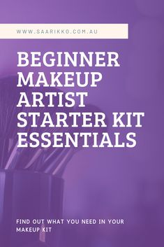 Find out what you actually need to build your makeup kit as a student or beginner makeup artist. Makeup Artist Starter Kit, Makeup Artist Kit, Makeup Kit, Beginner Makeup, Makeup For Beginners, New Artists, Starters, Makeup Yourself, Sephora