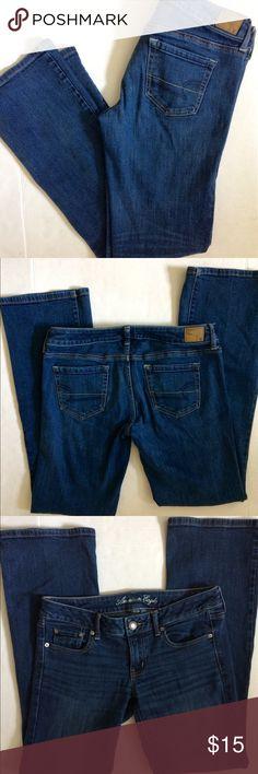 American Eagle Favorite Boyfriend jeans American Eagle Favorite Boyfriend jeans. Size 8Long. Medium/dark wash. American Eagle Outfitters Jeans