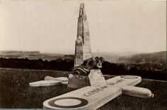 Wonderful picture of the old Nungesser and Coli memorial above Etretat, destroyed in WW2.  More here http://www.normandythenandnow.com/last-flight-of-the-white-bird-at-etretat/