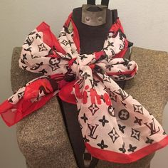 Oblong scarf with designer logos Very cute Accessories Scarves & Wraps
