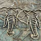 Laser cut Wooden Earrings by Green Tree Jewelry