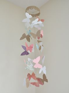 Butterfly changing table mobile