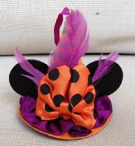 Disney Halloween Witch Hat Minnie Mouse Ears Hat Ornament Mickey Limited Edition