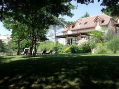 - Cottage and Pool from the Edge of the Woods